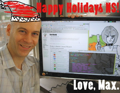 Happy Holidays! Love, Max